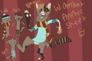 Wombat Anthro Sheet by bedheadd