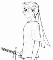 guy with a sword by kamesen