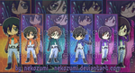 GUNDAM 00 - BOORMARK SET by Jennaris