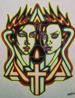 TWO HEADS R BETTER THAN ONE by L-A-K-ART