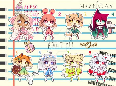[CLOSED TY] Adoptable Batch 27 - ADOPT ME! by Puripurr