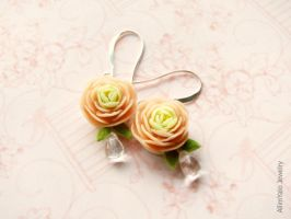 Earrings Tender ranunculus by allim-lip