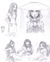 A:TLA Katara Sketches by PencilPaperPassion