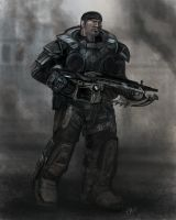 Gears of War Speedpaint by halohunter