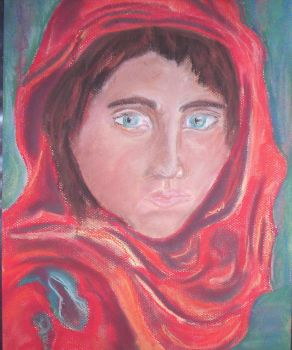 Afghan Girl by rampantchaos15