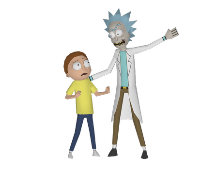 Rick and Morty Papercraft Models (W.I.P 2) by RavaMaster