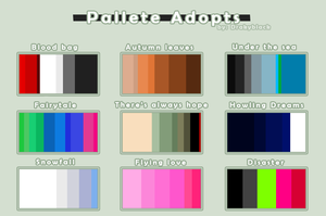 .:.Offer/PALETTE ADOPTABLE CHIBI HUMANS.:. -OPEN- by Drakyblack