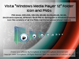 Vista WMP 12 Folder Icon+PNGs by sunnybacon