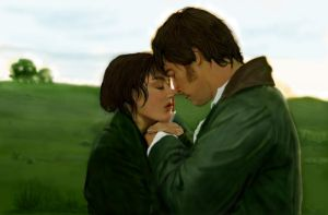 Pride and Prejudice - digital painting - fan art by Giselle-M