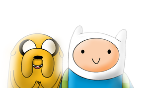 Finn and jake. Best buddys. by KingOfTheWolvez