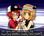 Pokemon Trainers: Tea + Katie by black-feather1013