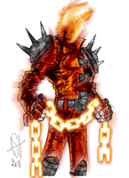 Ghost Rider Colored by DavidFCG