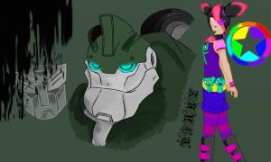 Miko And Bulkhead wallpaper by DreamDrifter1997