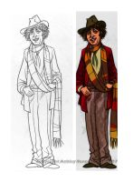 Tom Baker Bookmark by littlecrow