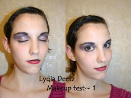 Lydia Deetz Makeup test 1 by The-Cosplay-Scion