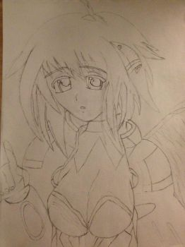 Ikaros drawing by Dominica-Sargent