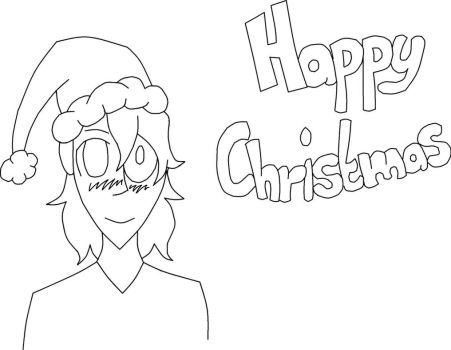 Christmas boy lineart by Madcrazyduck