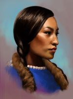 Photo Study:Native American Woman by TheNecco