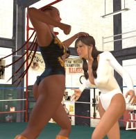 Wrestling Ballerina vs. Deniece 2 by cattle6