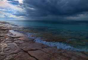 Squall over Goulding Cay by peterpateman