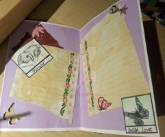 Vintage, Polaroid Picture Birthday Card (inside) by PossumPip-Creations