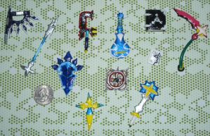 Organization XIII Charms by RedShotRonin