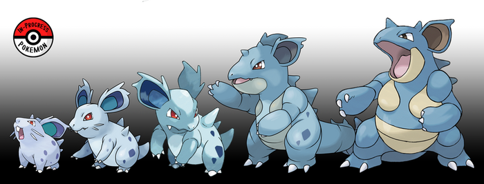 029 - 031 Nidoran(F) Line by InProgressPokemon