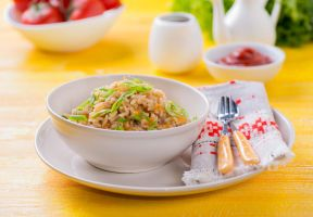 Fried rice with vegetables by BeKaphoto
