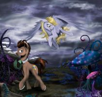 The magic world of Doctor and Derpy by Vinicius040598