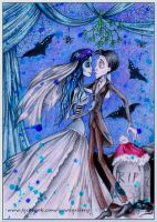You may kiss the bride (Corpse Bride fanart) by Yawannka