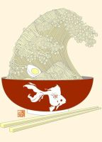 The Great Ramen Wave by Sheharzad-Arshad