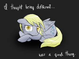 Derpy's side by DawnMistPony