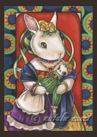Mexican Folk Art Rabbit by natamon