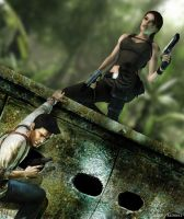 Lara vs Nathan by ReD8ull