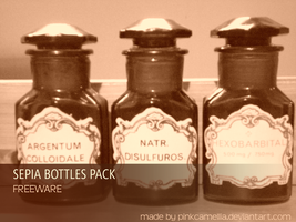 Sepia Bottles Pack by pinkcamellia