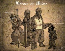 heroes of milne by Crazon