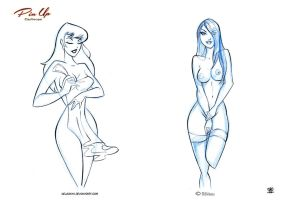 Pin up Cartoons by celaoxxx