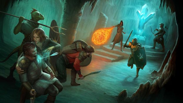 Avernum 2 Splash Art by benithil