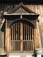 wooden gate by welder-stock