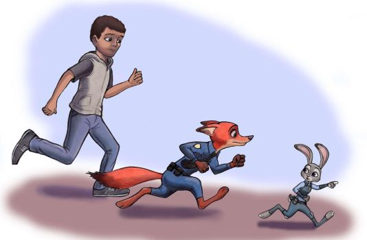 Nick, Judy, Quincy by zdrer456