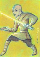 Aang as Jedi Knight by LEXLOTHOR