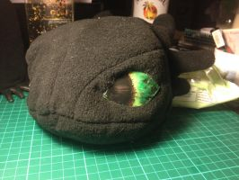 Toothless Head by laurilolly-crafts