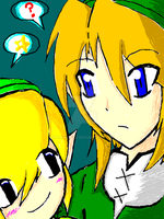SSBB: Link and Toon-Link by Kamira-Exe