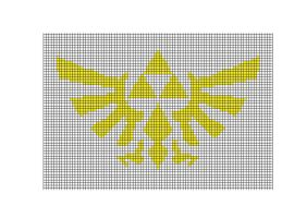 Zelda Logo Cross Stitch pattern by littleUki13