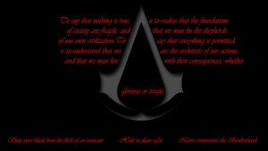 The Creed of the Assassin by MorrisonPhotoDesign
