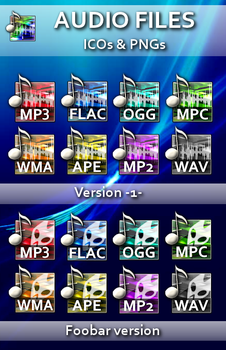 Audio icons by pablocoo