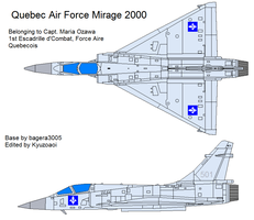 Quebec Air Force Mirage 2000 by kyuzoaoi