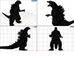 MMD WIP MogeGoji Model by Gorosaurus65