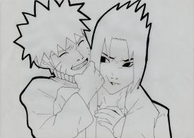 Naruto and Sasuke by dolce94