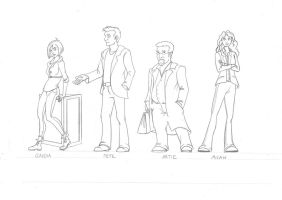 Warehouse 13 Characters by lunatteo